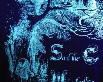 Glow in the dark Alice in Wonderland screenprint t-shirt