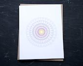 sundial notecard