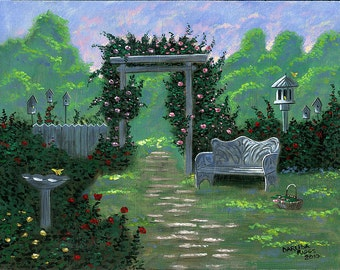 Grandma's Garden - 11x14 Acrylic Painting