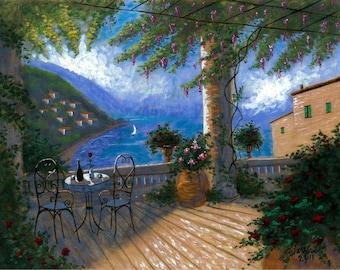 Wisteria Memories - 11x14 Acrylic Painting