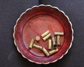 12 empty brass shell casings - 15x7mm