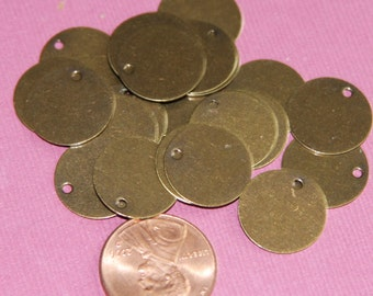 50 pcs of Antiqued brass coin disc 15mm