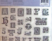 Stamp Rubber Monogram Letters Cling by Cloud 9  - Kitsnbitscraps