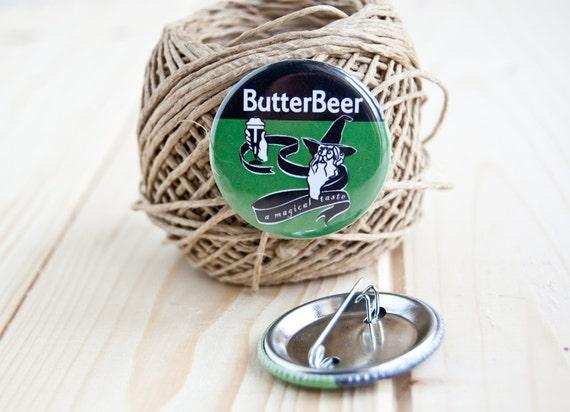 Butterbeer pinback button