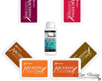 SALE Mix and Match for 3 Archival Fabric Ink Pads + 1 Cleaner (Bundle Discount) Stamping • Scrapbooking • Card Making