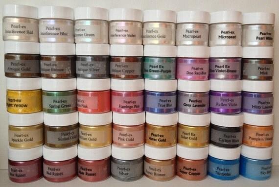 Jacquard Pearl Ex Mica Pigment Powder - Custom 8 Color Kit - 6 gram Jars - Buyer's Choice of Any 8 Colors