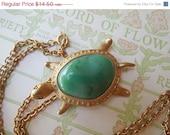 50% OFF Vintage 1970's Turtle Pendant Brooch Necklace in One