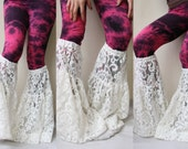 white lace leg warmers dance yoga bell bottoms