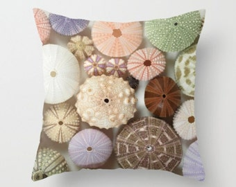 Sea Urchin Photograph Pillow Urchin Pillow  Affordable Home Photography  Nature  Decor Nature Ocean Sea  Earth Echinoderm