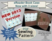 New 2013 eReader Padded Book Case INSTANT DOWNLOAD PDF Sewing Pattern with 3 Sets of Pattern Sizes Ready to Print
