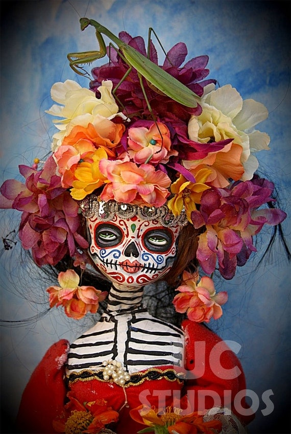 Steampunk Dia De Los Muertos with Mantis Doll Canon PRINT 434 from Photo/Doll by Michael Brown/UC Studios