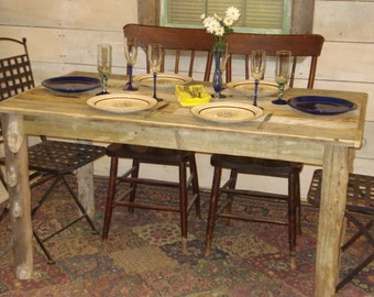 """Driftwood Dining Room Table (54"""" x 30"""" x 29""""H)"""