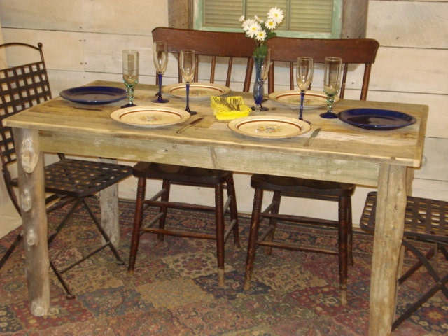 Driftwood dining room table 54 x 30 x 29h for Dining room table 54 x 54
