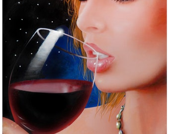 Woman & Red Wine