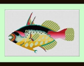 Go Fish No 3 cross stitch pattern PDF