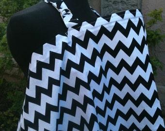 Nursing Cover, Breastfeeding Feeding Cover up, Nursing cover up, Black and White Chevrons Nursing Cover, Baby BoyGift