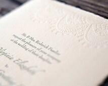 wedding letterpress vintage lace
