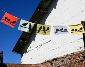 blackbird flags in multi colors- strand of 5