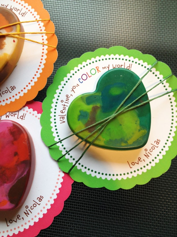 Color My World Valentines - Printable PDF file