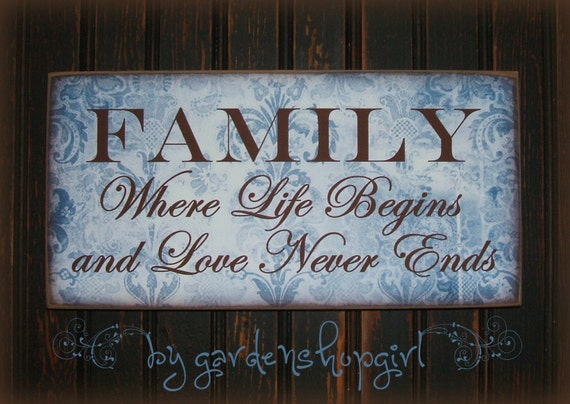 Items Similar To French Country Wood Sign Family Where