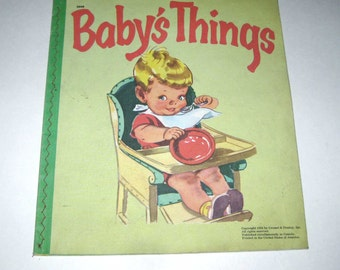 Baby's Things Vintage 1950s Baby's Plastic Book