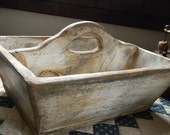"Wooden Trug for your rug hooking, punch needle, cross stitching needs - ""Old as Dirt Primitives"" from Notforgotten Farm"