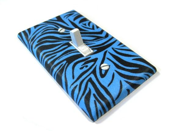 Black And Blue Zebra Stripes Bedroom Decor Light By