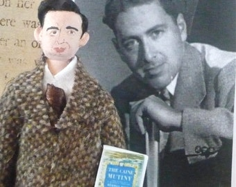Herman Wouk Author Doll Classic Literature Author Writer Miniature Art