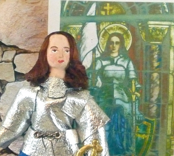Joan of Arc Doll Miniature Historical French Art Collectible