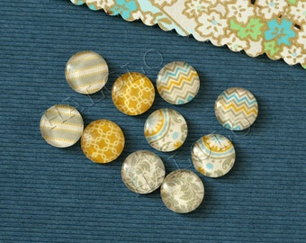 10pcs handmade assorted texture round clear glass dome cabochons 12mm (12-0766)