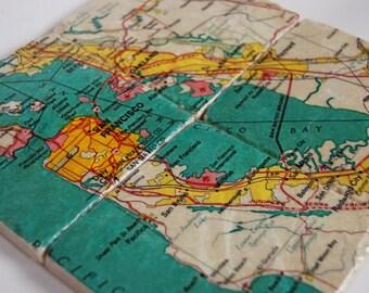 San Francisco map coasters
