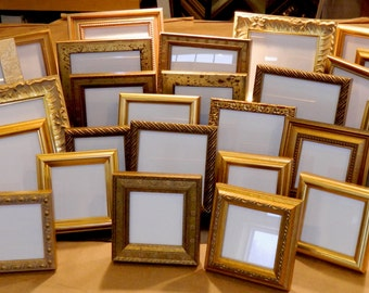 20 Small Gold Frames for 50th Wedding Anniversary Party Event