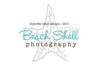 Premade Starfish  Business Logo Design and Watermark