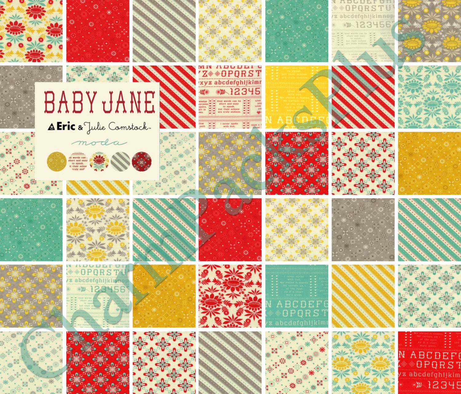 Baby Jane Moda Fabric Charm Pack Five Inch Quilt Squares