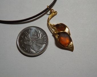 Sea Glass Calla Lily Pendant