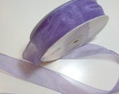 Purple Ribbon, Asiana Purple Dusk Organza Ribbon 1 1/2 Inches Wide x 10 yards, Offray Simply Sheer Ribbon