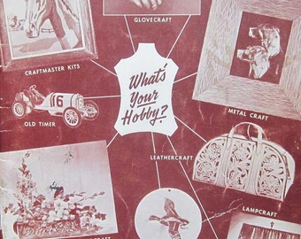 Vintage Mail Order Catalog Whats Your Hobby Bedford Leather Book 1954