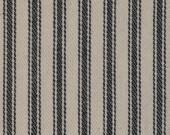 Black Ticking Material   Ticking Cloth   Vintage Inspired Ticking   Stripe Material   Cotton Ticking   Twill Ticking   1 Yard