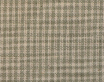Homespun Material | Cotton Material | Quilt Material | Craft Material | Home Decor Material | Small Grey Check Material 1 Yard