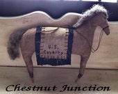 Cavalry Horse EPATTERN-primitive cloth doll craft digital download sewing pattern- PDF- 1.99