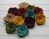 Wool Felt Flowers Large Posies in the Mother Earth Collection The Original Wool Felt Posies