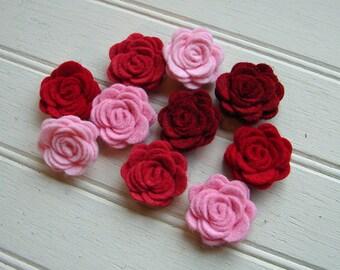 Wool Felt Flowers - Mini Valentine Posies - The Original Wool Felt Posies