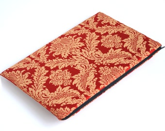 SALE! MacBook 15 Pro Case, Sleeve, Padded, Cover, Gold Red Ornaments Fabric Bag