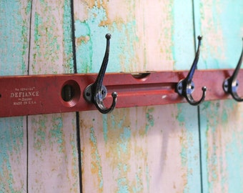 Fathers Day Rustic Red Level Hook Rack