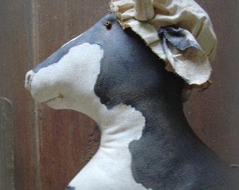 Martha, A Primitive, Folk Art Cow Pattern from Raven's Haven