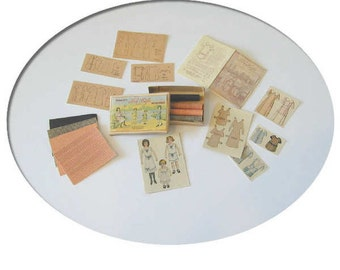 Dollhouse Miniature Tru-Life Paper Dolls, Kit,