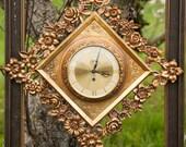 Vintage  Syroco Clock 8 Day Jewel - Hollywood Regency