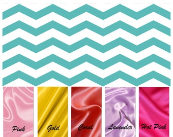 CLEARANCE SALE / CHEVRON minky print with soft silky satin......Comforting fabrics for baby