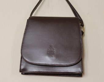 Mark Cross - vintage Chocolate Brown Leather Crossbody Purse