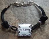 Mom Bracelet, Personalized Leather Bracelet, Jewelry for Mothers, Personalized Mom Bracelet, Friendship Bracelet, Custom Jewelry for Her